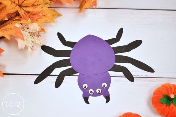 Halloween Spider Handprint Craft