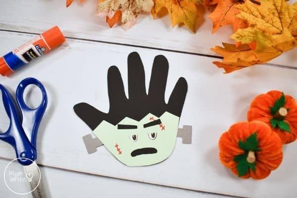 Handprint Frankenstein Craft