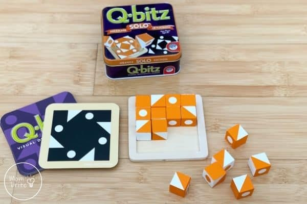 Q-bitz Solo Game Card