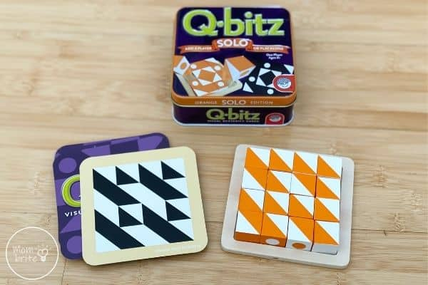 Q-bitz Solo Game Completed Puzzle