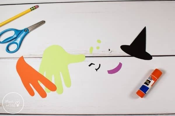 Witch Handprint Craft Cut Out Template Patterns