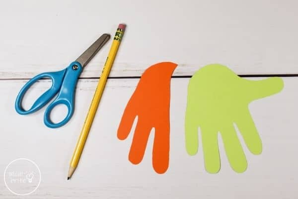 Witch Handprint Craft Cut Traced Hand