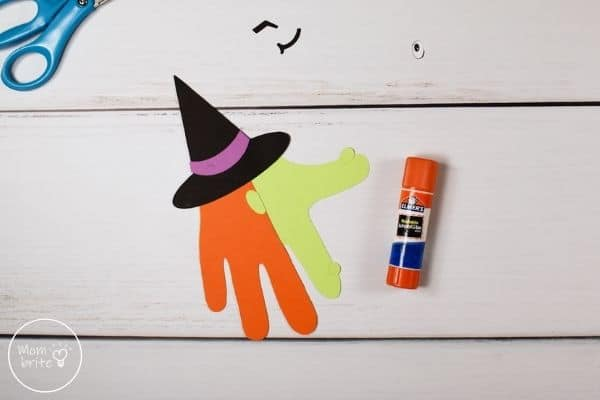 Witch Handprint Craft Glue Ear and Moles