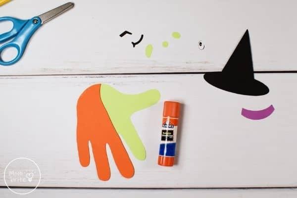 Witch Handprint Craft Glue Hands