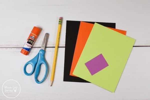 Witch Handprint Craft Materials