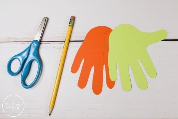 Witch Handprint Craft Trace Hand