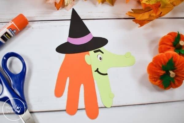 Witch Handprint Craft