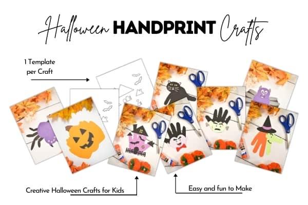 Halloween Handprint Crafts Bundle
