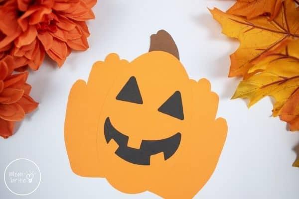 Halloween Pumpkin Handprint Craft