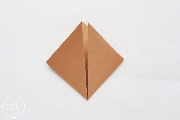 Origami Wolf Fold Corners Upward
