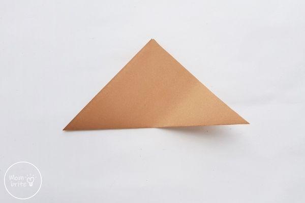 Origami Wolf Fold in Half into Triangle