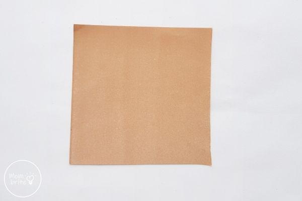 Origami Wolf Square Paper