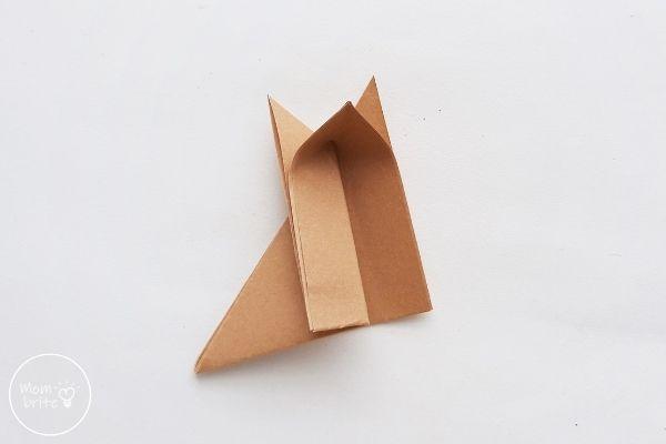 Origami Wolf Unfold Half of 1cm Fold