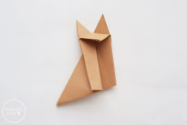 Origami Wolf Unfold Half of the 1 cm Fold and Flatten