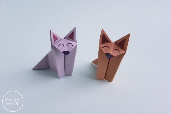 Origami Wolf and Origami Fox Crafts
