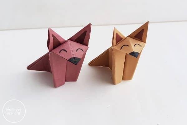 Origami Wolf or Origami Fox Craft