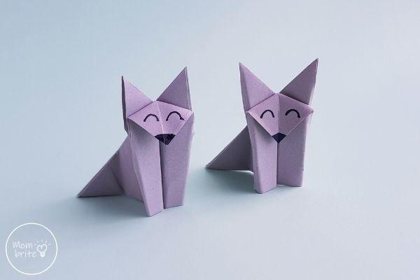 Paper Origami Wolf Craft