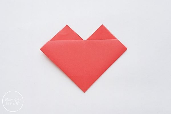 origami heart flip the paper