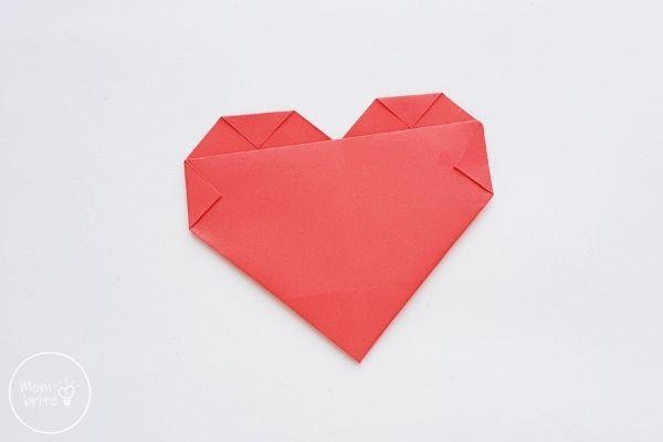 origami heart fold corners inward