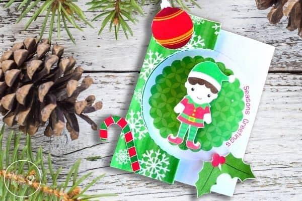DIY Elf Christmas Card