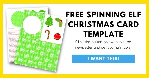 Free Spinning Elf Christmas Card Template Email List Opt-In
