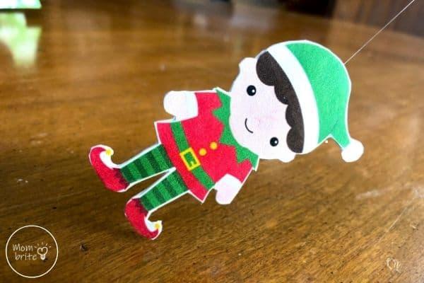 Spinning Elf Christmas Card Assemble Elf