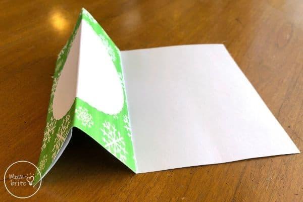 Spinning Elf Christmas Card Bend Card Base