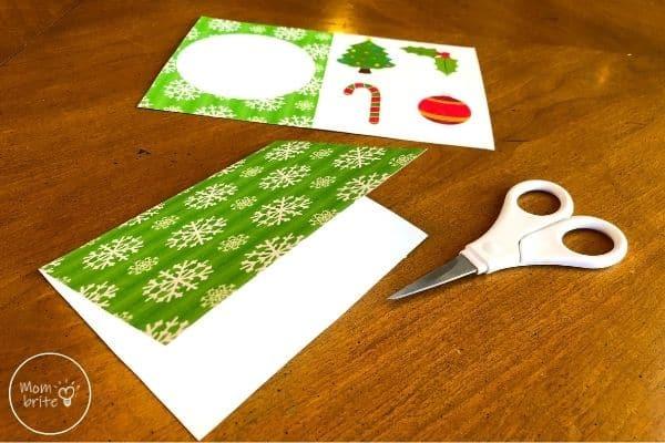 Spinning Elf Christmas Card Fold Base