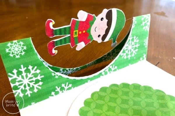 Spinning Elf Christmas Card Fold Card