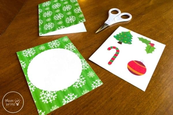 Spinning Elf Christmas Card Fold Top Rectangle