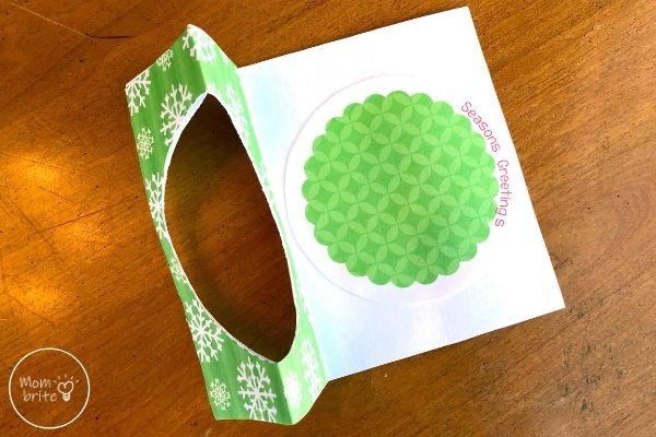 Spinning Elf Christmas Card Glue Seasons Greeting's Circle on Base