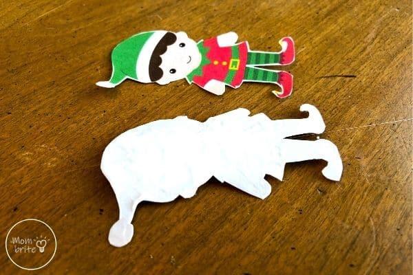 Spinning Elf Christmas Card Glue String on Elf