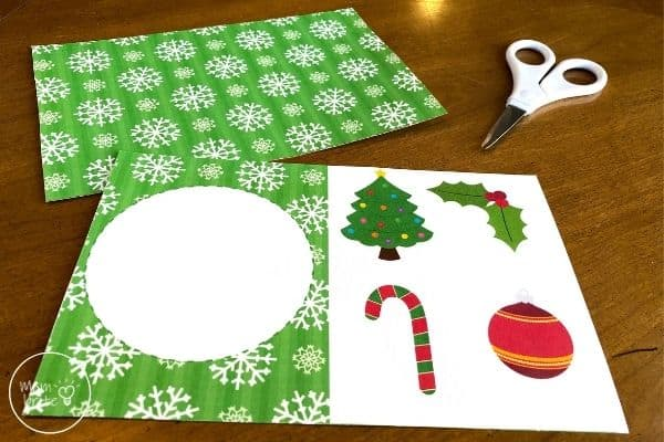 Spinning Elf Christmas Card Print Out Templates Trim Edge