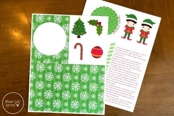 Spinning Elf Christmas Card Print Out Templates